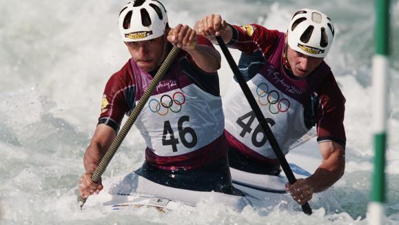 FORGUES Wilfrid Sandra champion kayak