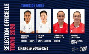 Tokyo 2020-Tennis de Table
