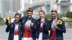 Tokyo 2020-Triathlon Bronze - Leonie PERIAULT,Dorian CONINX, Cassandre BEAUGRAND et Vincent LUIS